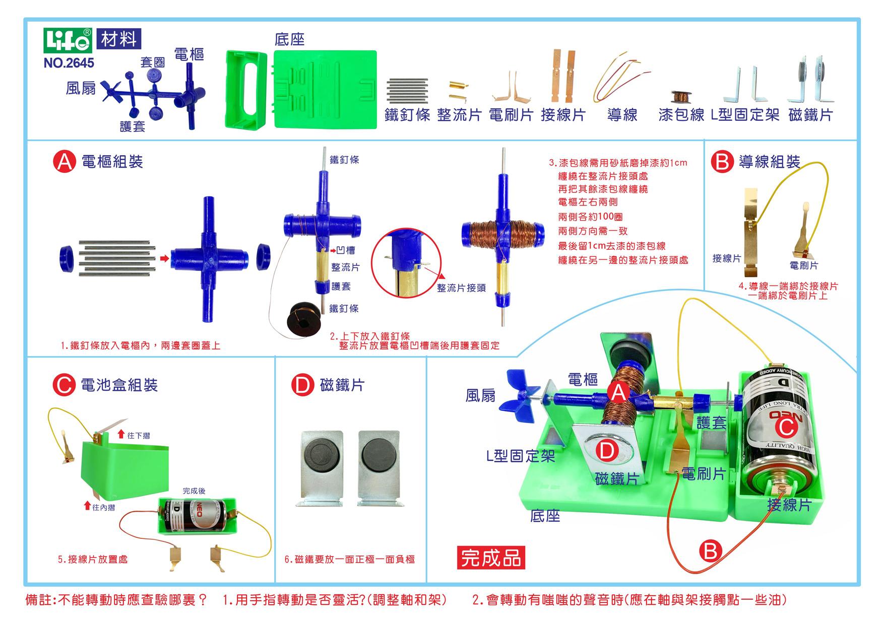 NO.2645教學實驗用電動機
