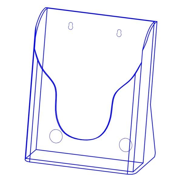 射出展示架 PS塑膠材質(單層A4)