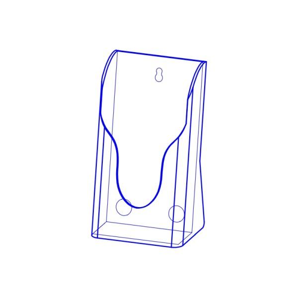 射出展示架 PS塑膠材質(單層 A4 1/3 )