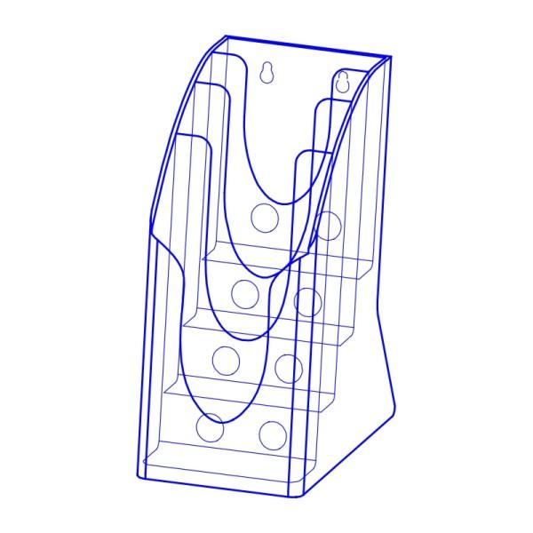 射出展示架 PS塑膠材質(四層 A4 1/3 )