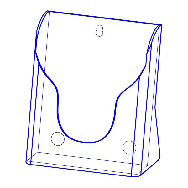 射出展示架 PS塑膠材質(單層 A5 )
